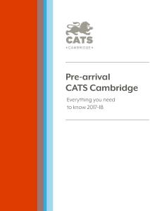 cats pre-arrival